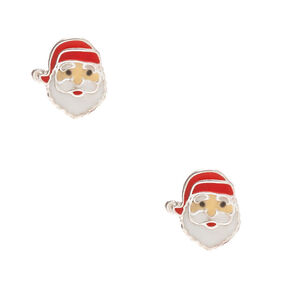 Sterling Silver Santa Claus Stud Earrings,
