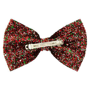 Christmas Glitter Hair Bow,