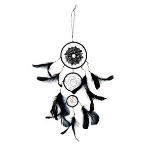 Beaded Lace Dreamcatcher - Black,
