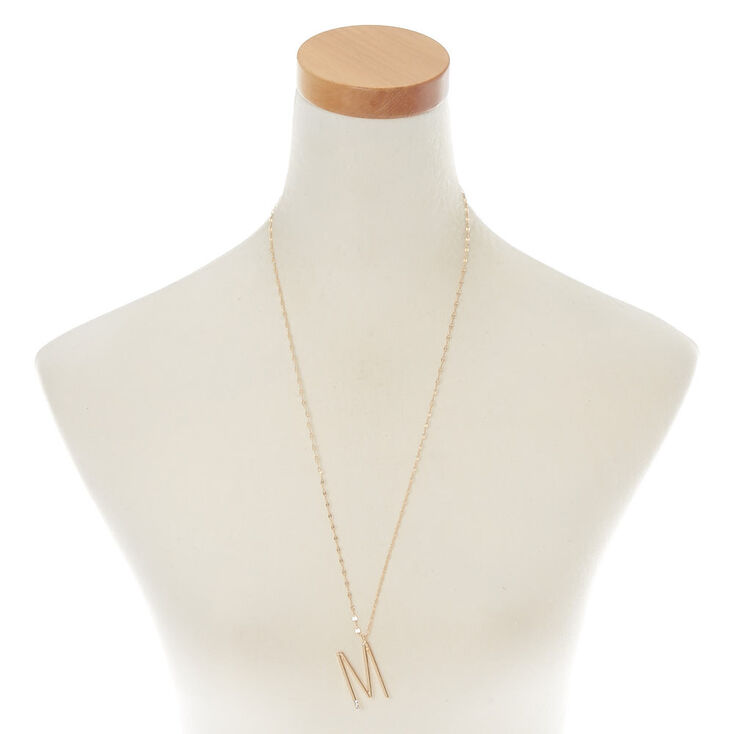 Oversized Initial Stone Pendant Necklace - M,