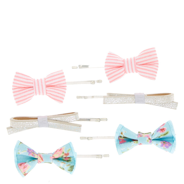 Fabric Bow Bobby Pins,