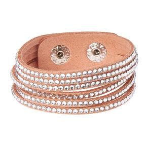 Pink & Silver Gem Snap Button Bracelet,