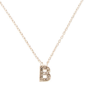 "Silver-Tone ""B"" Initial Pendant Necklace,"