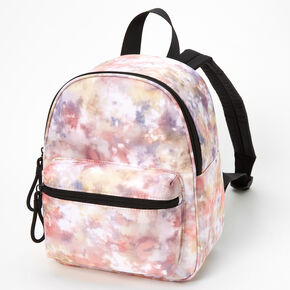 Pink Patterned Small Backpack,