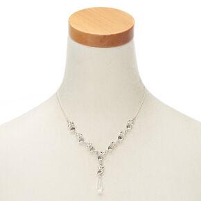 Ice Teardrop Statement Necklace,