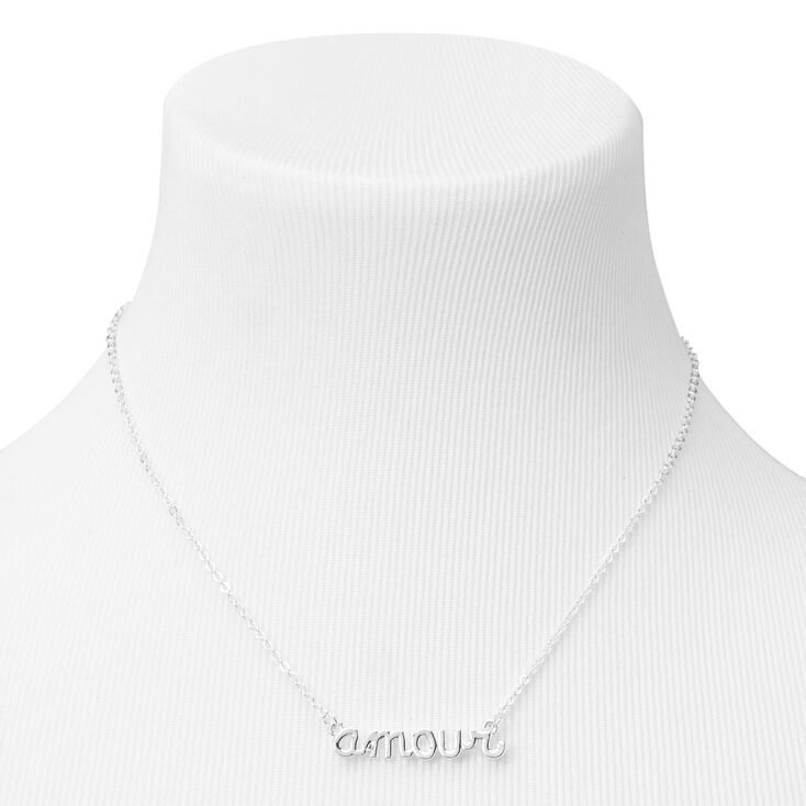 Silver Amour Pendant Necklace,