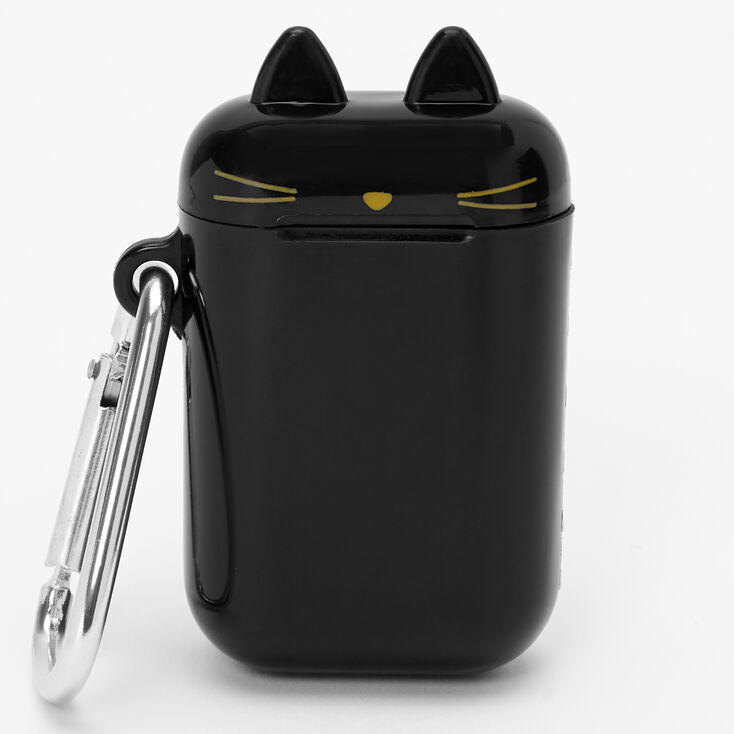 Cat Reusable Collapsible Straw Keychain - Black,