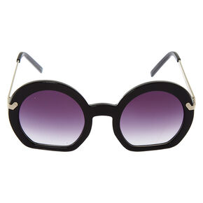 Round Cut Off Sunglasses - Black,