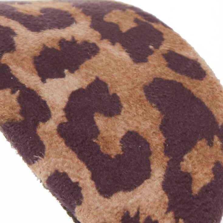 Wide Leopard Headband,