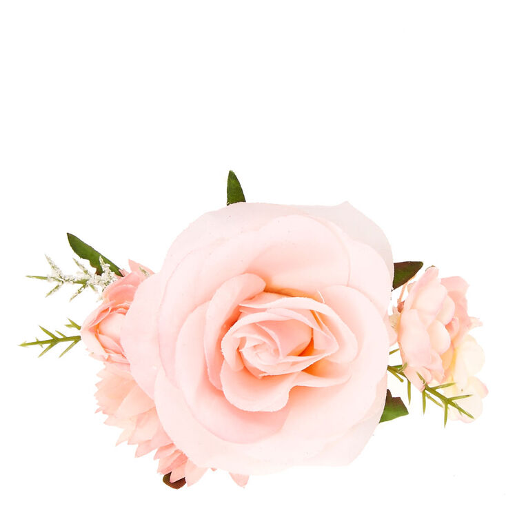 Vintage Style Jewelry, Retro Jewelry Icing Pink Flower Corsage Hair Clip $8.99 AT vintagedancer.com