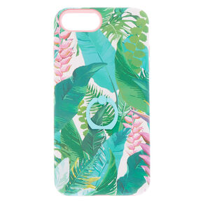 Tropical Leaves Square Protective Phone Case  - Fits iPhone 6/7/8 Plus,