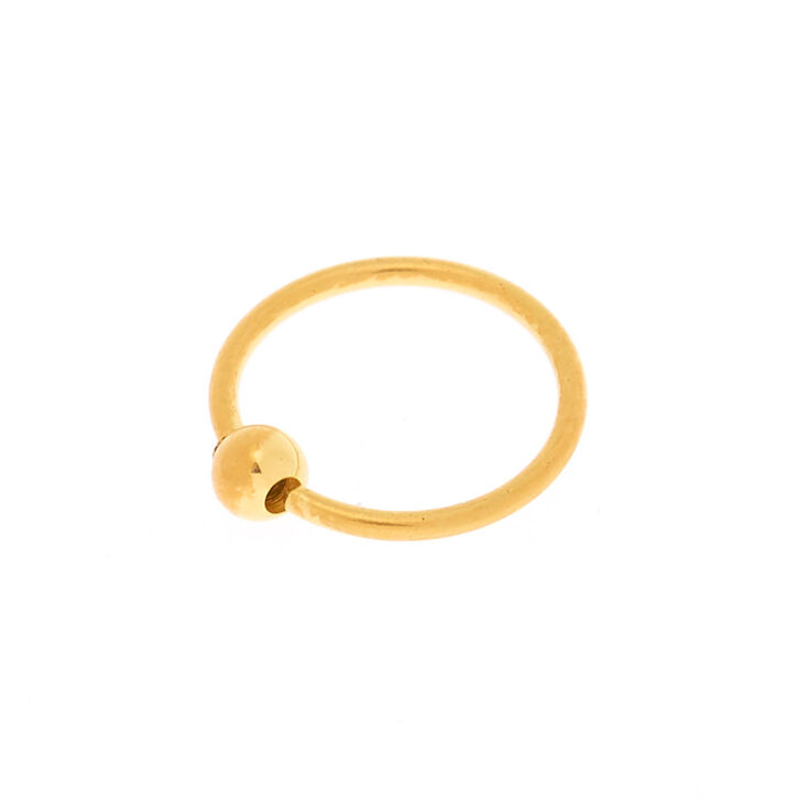 18ct Gold Plated 20G Ball Nose Ring,