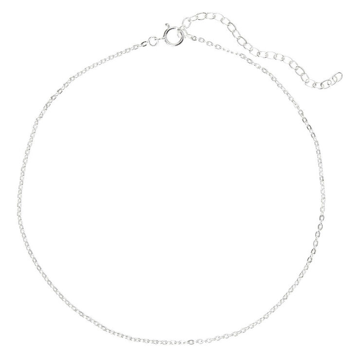Sterling Silver Simple Chain Anklet,