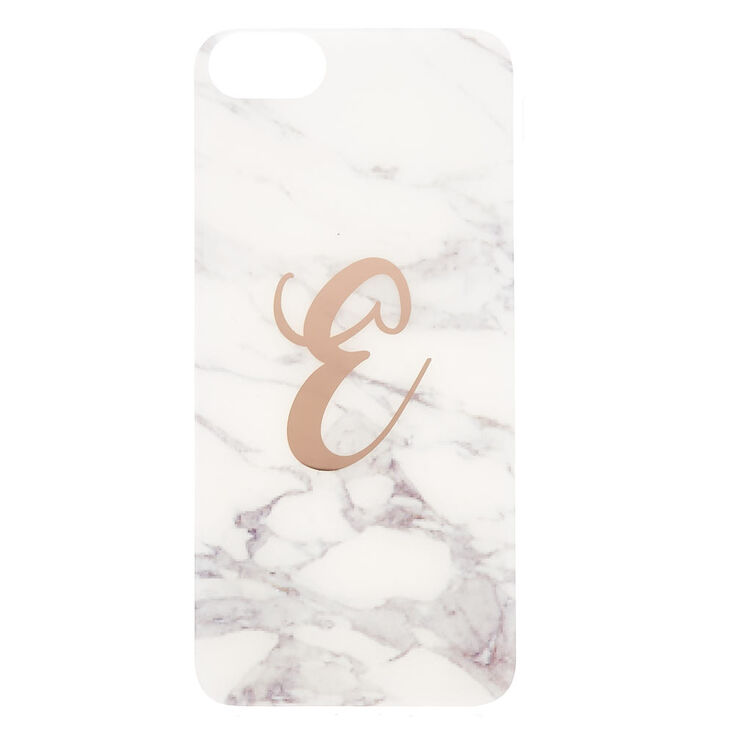 """Marble """"E"""" Initial Phone Case,"""