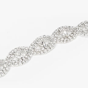 Silver Rhinestone Evil Eye Bracelet,