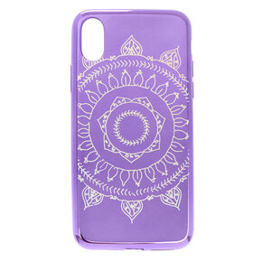 Purple Metallic Mandala Phone Case - Fits iPhone X/XS,
