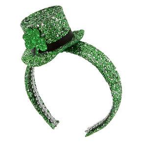 St. Patrick's Day Glitter Mini Hat Headband,