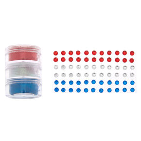 Patriotic Glitter & Gem Kit,