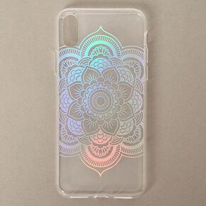 Rainbow Holographic Mandala Phone Case - Fits iPhone X/XS,