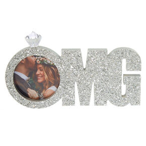 23c161a406b4 OMG Glitter Bridal Photo Frame - Silver