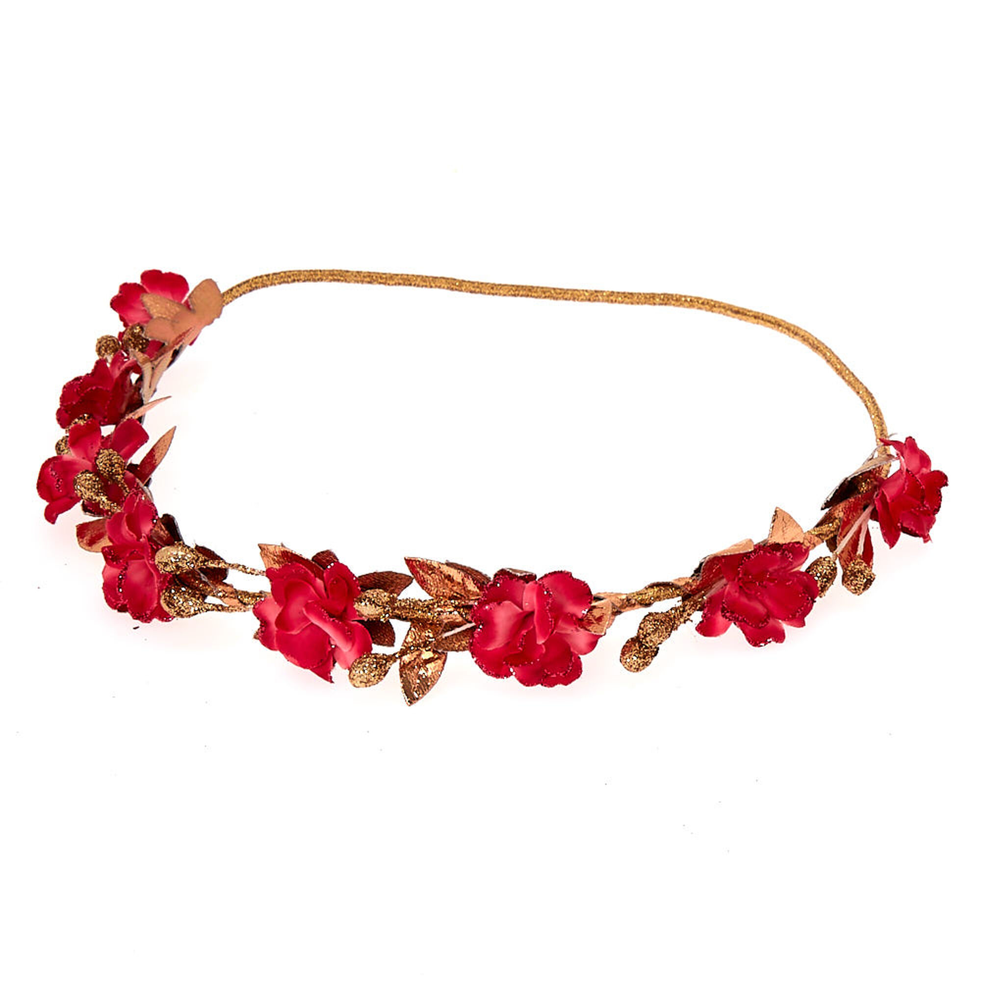 Rose gold glitter flower crown headwrap fuchsia icing us rose gold glitter flower crown headwrap fuchsia izmirmasajfo