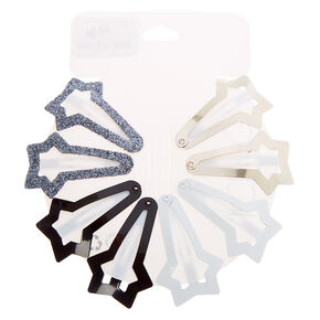 Neutral Star Snap Hair Clips - 8 Pack,