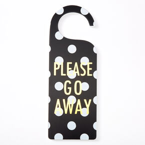 Please Go Away/So Nice To See You Polka Dot Door Hang,