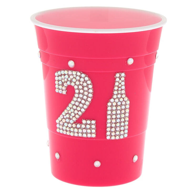 21 Bling Drink Cup - Pink,