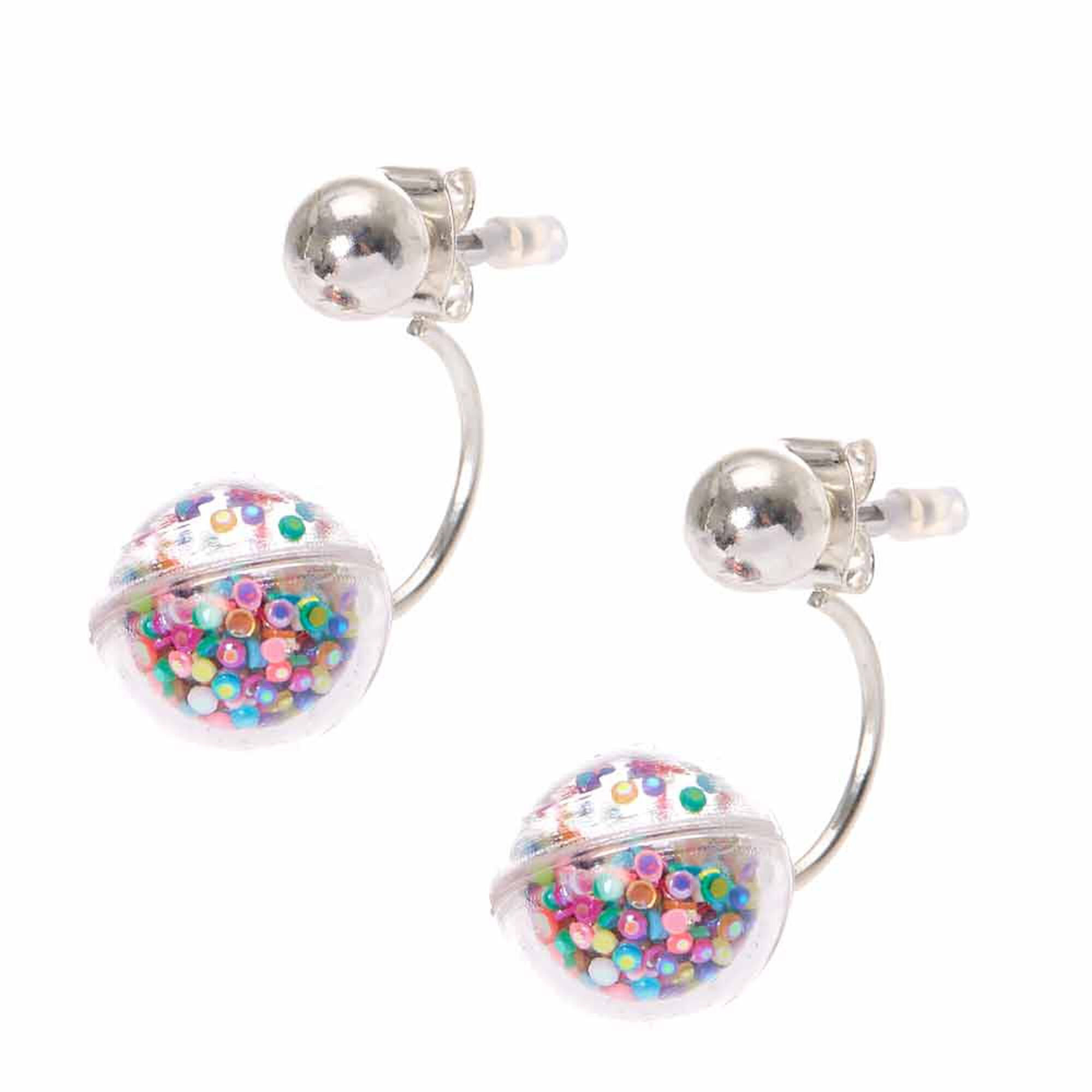 clip claire rainbow rubber earrings s us on hoop spike