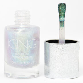 Shimmer Nail Polish - Silver Holo Glitz,