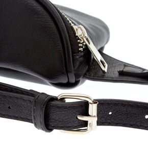 Faux Leather Fanny Pack - Black,