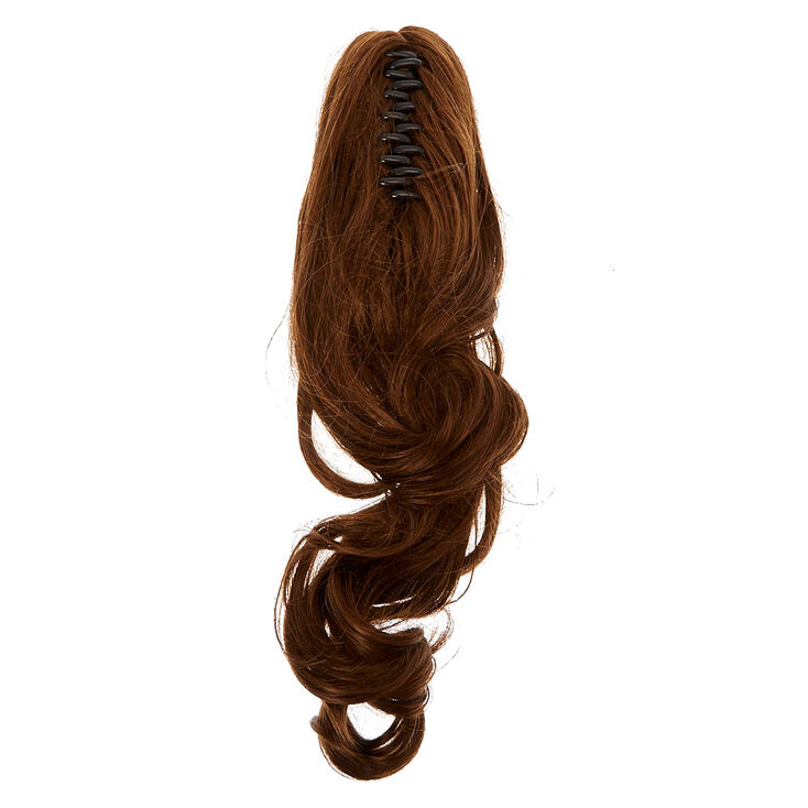 Brunette Short Faux Hair Ponytailer,