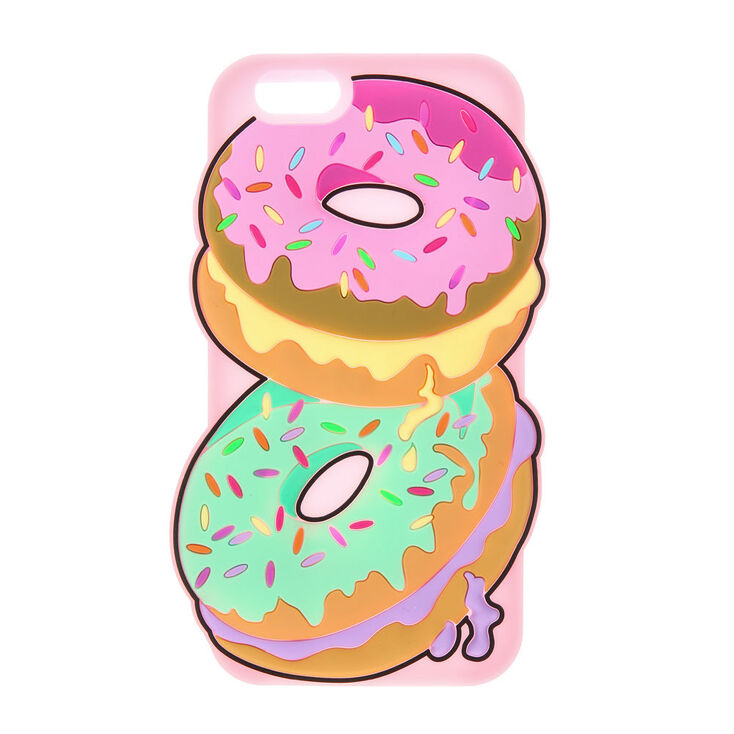 3D Silicone Donuts with Sprinkles Phone Case - Fits iPhone 6/7/8,