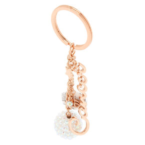 Zodiac Rose Gold Keychain - Cancer,