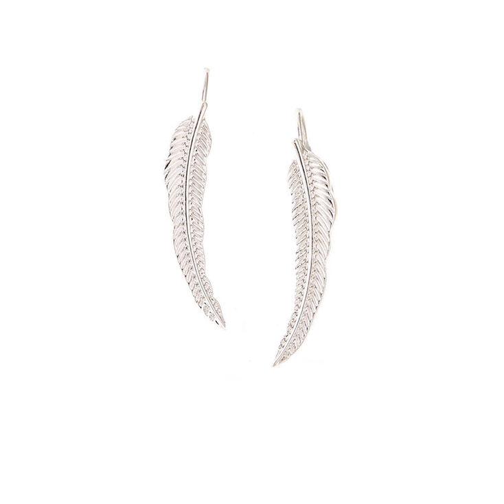 Silver-Tone Leaf Ear Crawler,