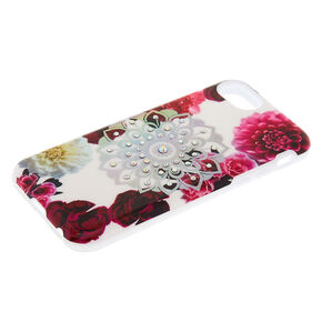 Floral Bling Mandala Protective Phone Case - Fits iPhone 6/7/8 Plus,