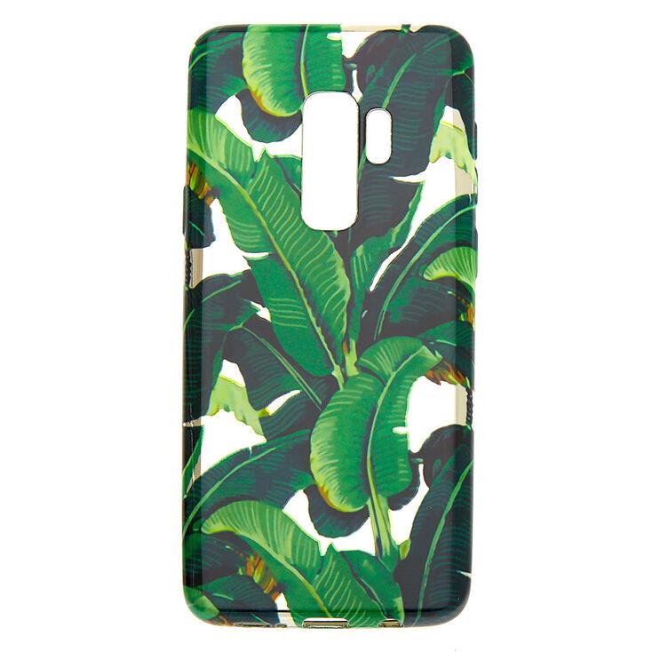 Metallic Palm Leaves Phone Case - Fits Samsung Galaxy S9 Plus,
