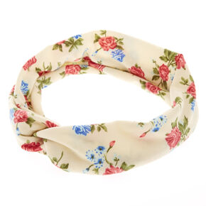 Ivory Roses Headwrap,