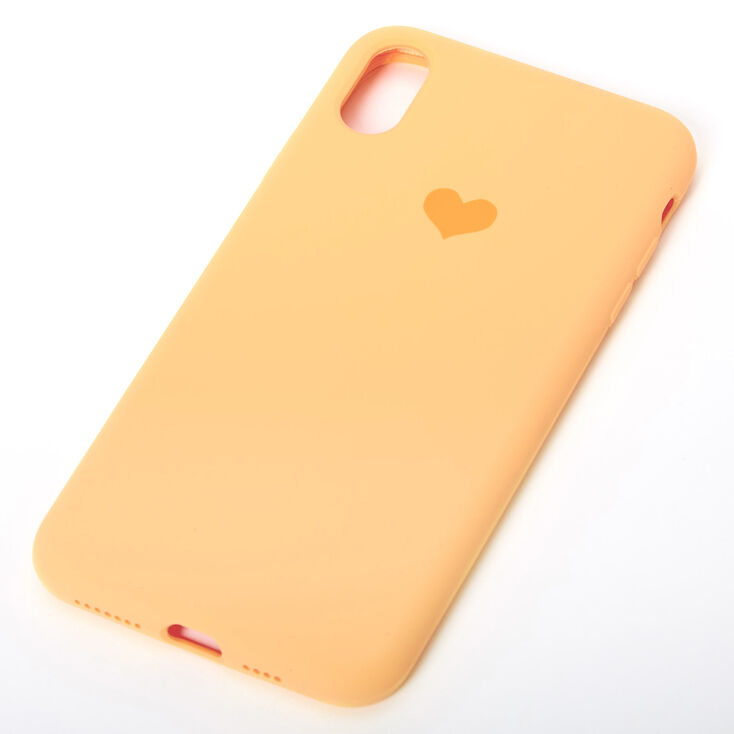 Mustard Heart Phone Case - Fits iPhone XS Max,