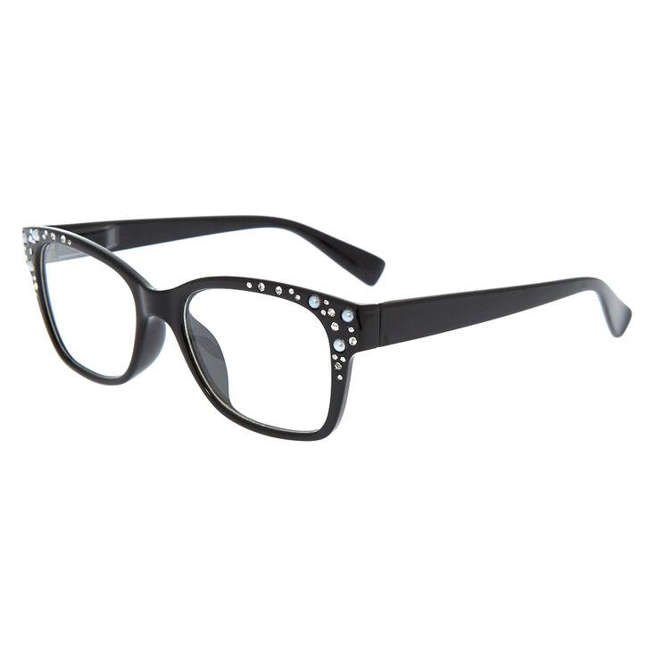 Embellishes Retro Clear Lens Frames - Black,