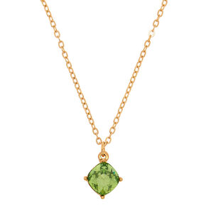 August Birth Stone Pendant Necklace - Peridot,