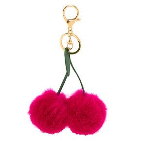Pom Cherries Keychain - Pink,