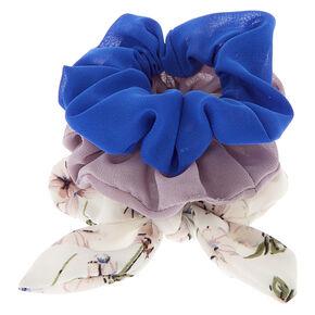 Vintage Floral Hair Scrunchies - 3 Pack,