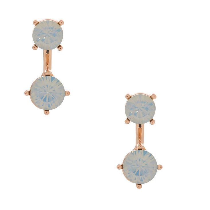 Rose Gold Ear Jacket Earrings,