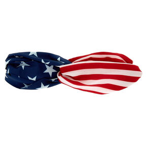 American Flag Twisted Headwrap,