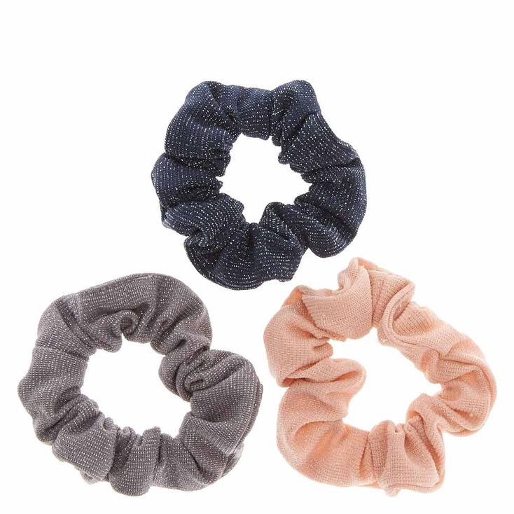 Silver Tinsel Hair Scrunchies,