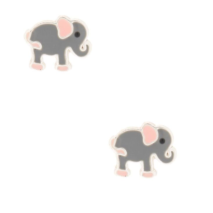 Sterling Silver Elephantastic Stud Earrings,