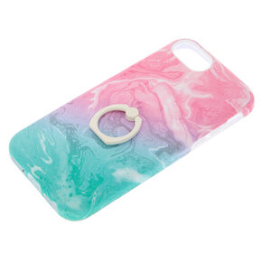 Pastel Watercolor Ring Holder Protective Phone Case - Fits iPhone 6/7/8 Plus,