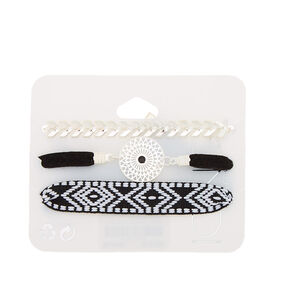 Southwest Statement Bracelets - Black, 3 Pack,