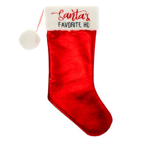 Santa's Favorite Ho Stocking - Red,